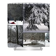 Winter At Petrifying Springs Park Shower Curtain