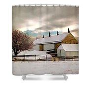 Winter At Piper Barn Anteitam National Battleground Shower Curtain