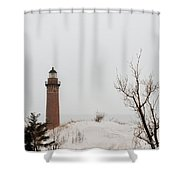 Winter At Silver Lake Shower Curtain