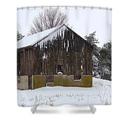 Winter At The Barn Shower Curtain