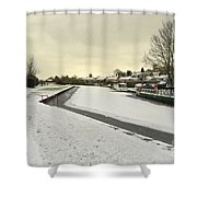 Winter At The Basin  Shower Curtain