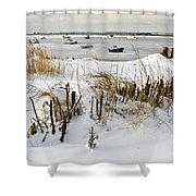 Winter At The Beach 2 Shower Curtain