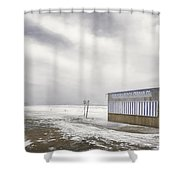Winter At The Cabana Shower Curtain