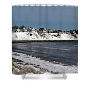 Winter At The Coast Shower Curtain