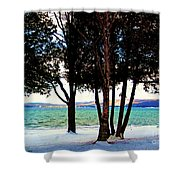 Winter At The Dunes Shower Curtain