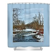 Winter At The Mattabeset River Shower Curtain