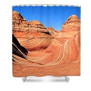 Winter At The Wave Shower Curtain
