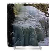 Winter At Zapata Falls Shower Curtain