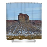 Winter Banded Butte Shower Curtain