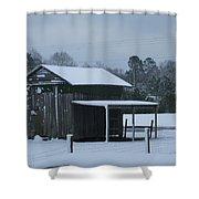 Winter Barn Shower Curtain by Nelson Watkins