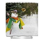 Winter Baseball Ball Gown  Shower Curtain by LeeAnn McLaneGoetz McLaneGoetzStudioLLCcom