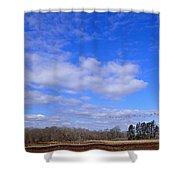 Winter Blue Shower Curtain