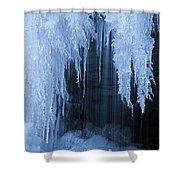 Winter Blues - Frozen Waterfall Detail Shower Curtain