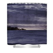 Winter Blues Shower Curtain by Thomas Young