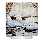 Winter Break Shower Curtain by Hanne Lore Koehler