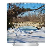Winter Bridge Shower Curtain