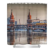 Winter Bridge Shower Curtain by Nathan Wright