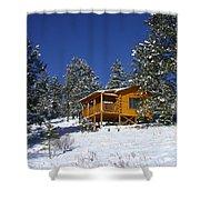 Winter Cabin Shower Curtain