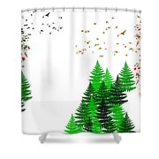 Winter Four Seasons Shower Curtain