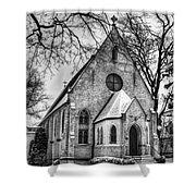 Winter Church Shower Curtain