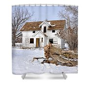 Winter Cleanup Shower Curtain