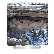 Winter Cliff Palace Shower Curtain