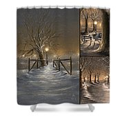 Winter Collage Shower Curtain