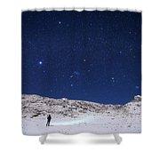 Winter Constellations Shower Curtain