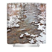 Winter Creek Scenic View Shower Curtain