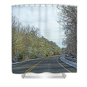 Winter Cruise Shower Curtain