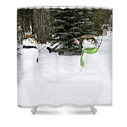 Winter Dance Of The Snow People Shower Curtain