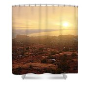 Winter Desert Glow Shower Curtain