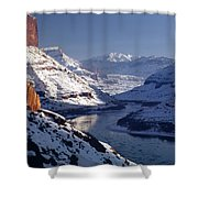 612702-winter Desert River, Ut Shower Curtain