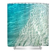 Winter Desire. Water Meditation. Five Elements. Healing With Feng Shui And Color Therapy In Interior Shower Curtain by Jenny Rainbow