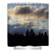 Winter Eve In The Applegate Valley Shower Curtain