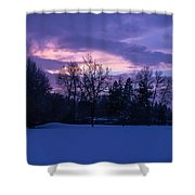 Winter Evening In Grants Pass Shower Curtain