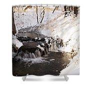 Winter Falls On Big Stone Lake  Shower Curtain