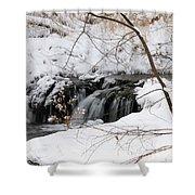 Winter Falls On Big Stone Lake Mn Shower Curtain
