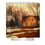Winter Farhouse Shower Curtain