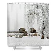 Winter Farm Shower Curtain