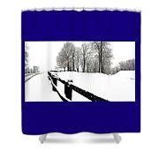 Winter Fence Shower Curtain