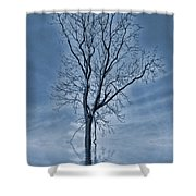Winter Floods Shower Curtain