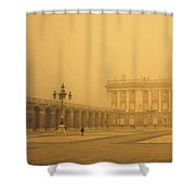 Winter Fog In Madrid Shower Curtain