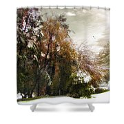 Winter Foliage Shower Curtain