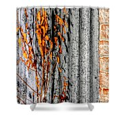 Winter Foliage Tin 13134 Shower Curtain