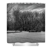 Winter Ford Truck 2 Shower Curtain