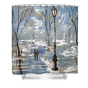 Winter Frost Shower Curtain