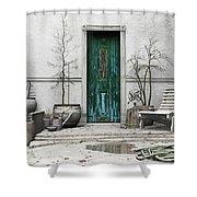 Winter Garden Shower Curtain by Cynthia Decker