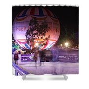 Winter Gardens Ice Rink And Balloon Bournemouth Shower Curtain