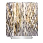 Winter Grass Abstract Shower Curtain
